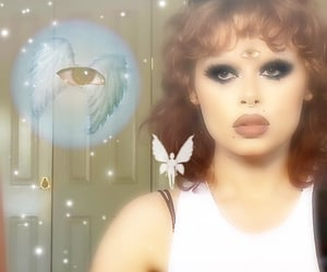 2000, smokey eyes, and angel core image