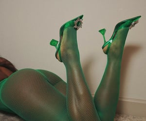 fashion, green, and heels image