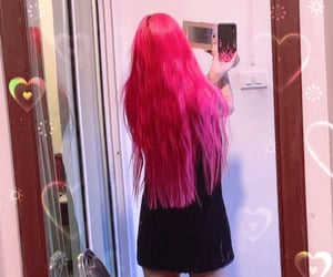 hair dye, hair color, and pink image