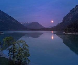blue, lake, and mountains image