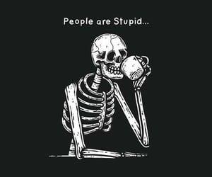 black, stupid, and dead inside image