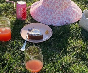 cake, countryside, and drink image