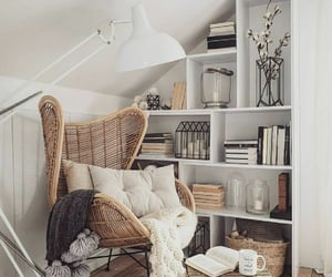 home, decoration, and books image