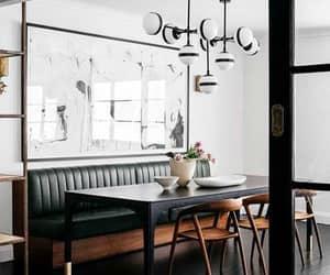 sala de jantar, suadecoracao, and sala de jantar com sofá image