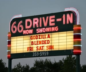 movie, drive in, and movies image