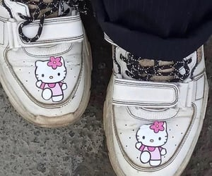 hello kitty, sneakers, and shoes image