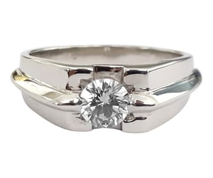 diamond ring and diamond wedding ring image