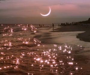 sky, glow, and moon image