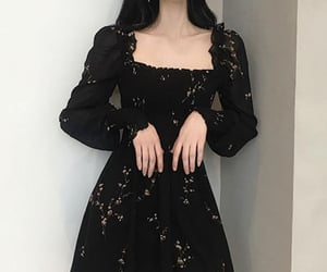 aesthetic, black dress, and dark aesthetic image
