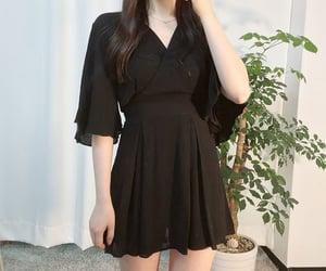 aesthetic, black dress, and minimalist image