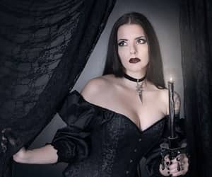 candle, goth, and bare shoulders image