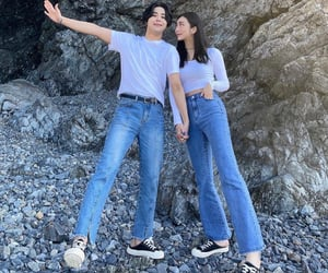 asian, matching outfits, and love image