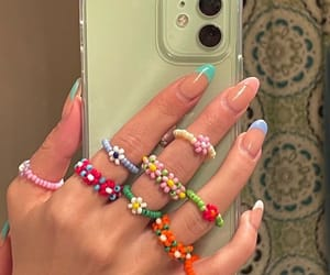 nails, rings, and aesthetic image