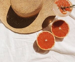 summer, fruit, and hat image