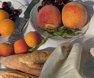 peach, bread, and food image