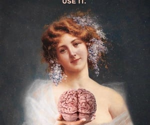 art, brain, and idiot image