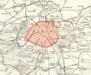 france, paris, and paris vintage map image