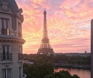 paris, paris sunset, and sunset aesthetic image