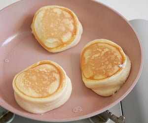 pancakes, yellow, and aesthetic image