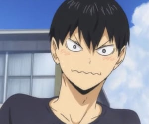 haikyuu, anime, and kageyama image