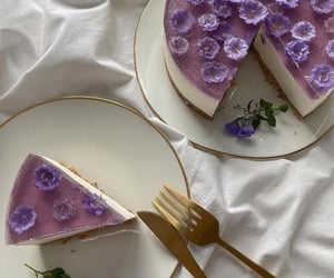 flowers, aesthetic, and cake image