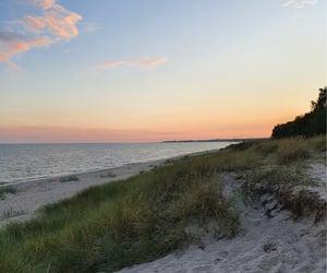 beach, dunes, and happy image
