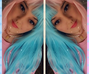 jewelry, bluehair, and pastel image