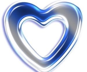 blue, heart, and ハート image