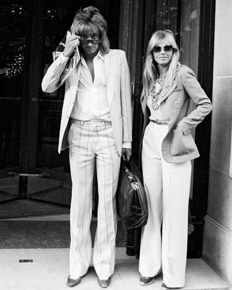 couple, black and white, and britt ekland image