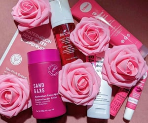 pink, skincare, and nyx cosmetics image