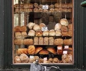 bread, bakery, and food image