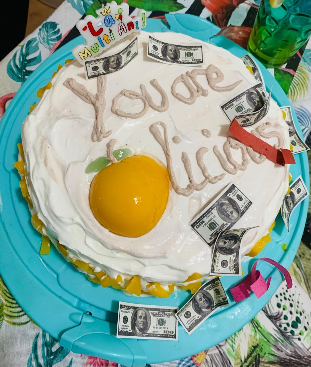 birthday girl, cake, and goals image