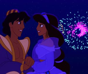aladdin, jasmine, and love image