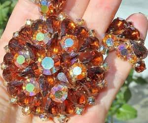 AB Rhinestone Fall Colors Brooch Earring Set Juliana Style image 0