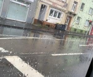 autumn, bus, and rain image