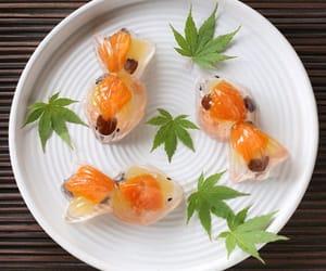 japanese sweet art and goldfish jellies image