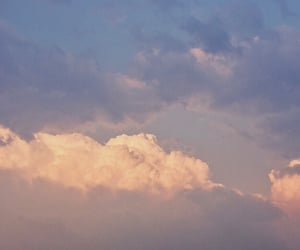 aesthetic, blue, and blue clouds image