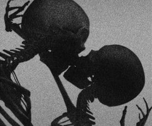 aesthetic, black, and skeleton image