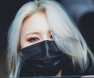 black, brown eyes, and hair image