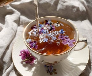 tea, flowers, and aesthetic image