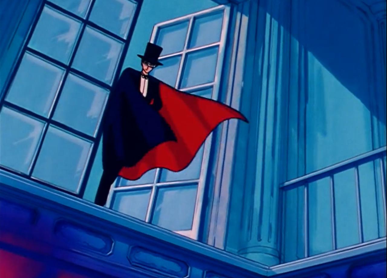 sailor moon, screenshot, and tuxedo mask image