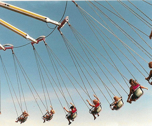 sky, swing, and vintage image