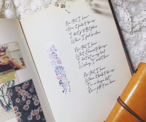 Collage, diary, and handwriting image