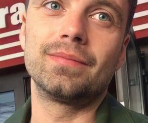 eyes, sebastian stan, and green eyes image