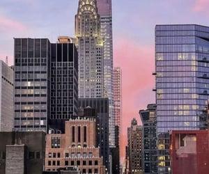 new york, new york city, and sunset image