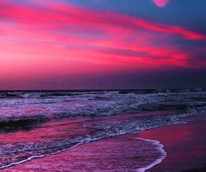 sunset, beaches, and sundown image
