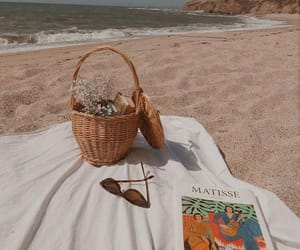 beach, picnic, and basket image