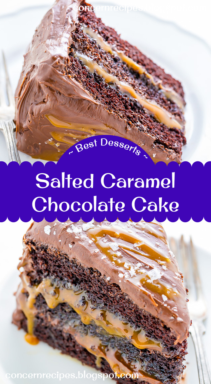 cake, caramel, and chocolate image