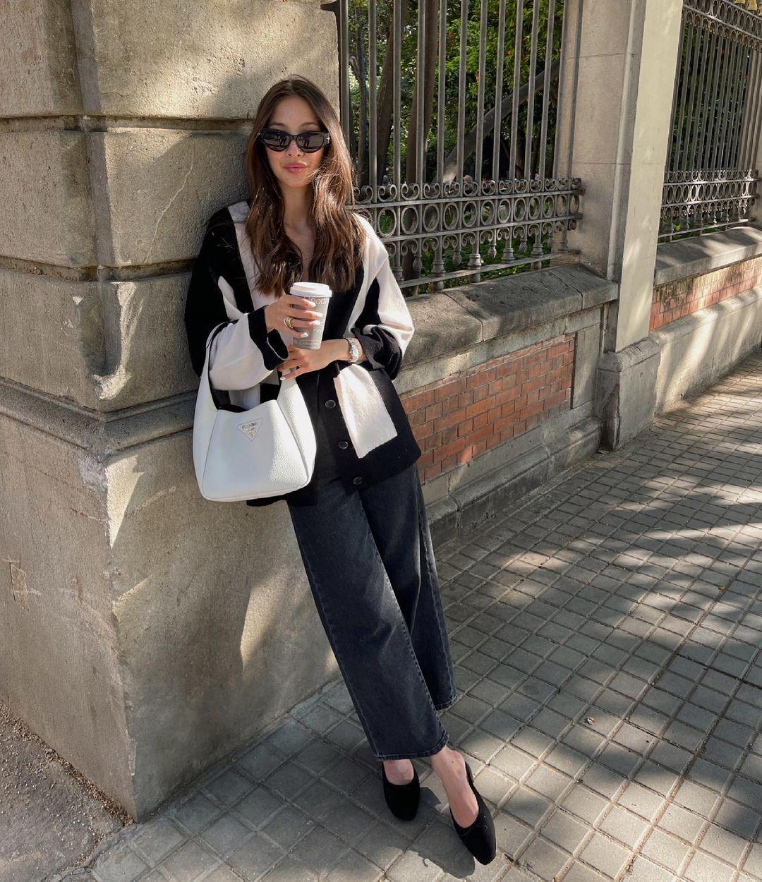 blogger, cardigan, and fashion image