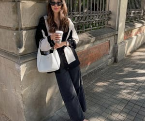 blogger, cardigan, and fashion image